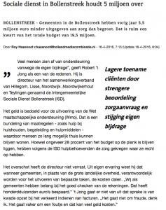 ISD houdt geld over (1)